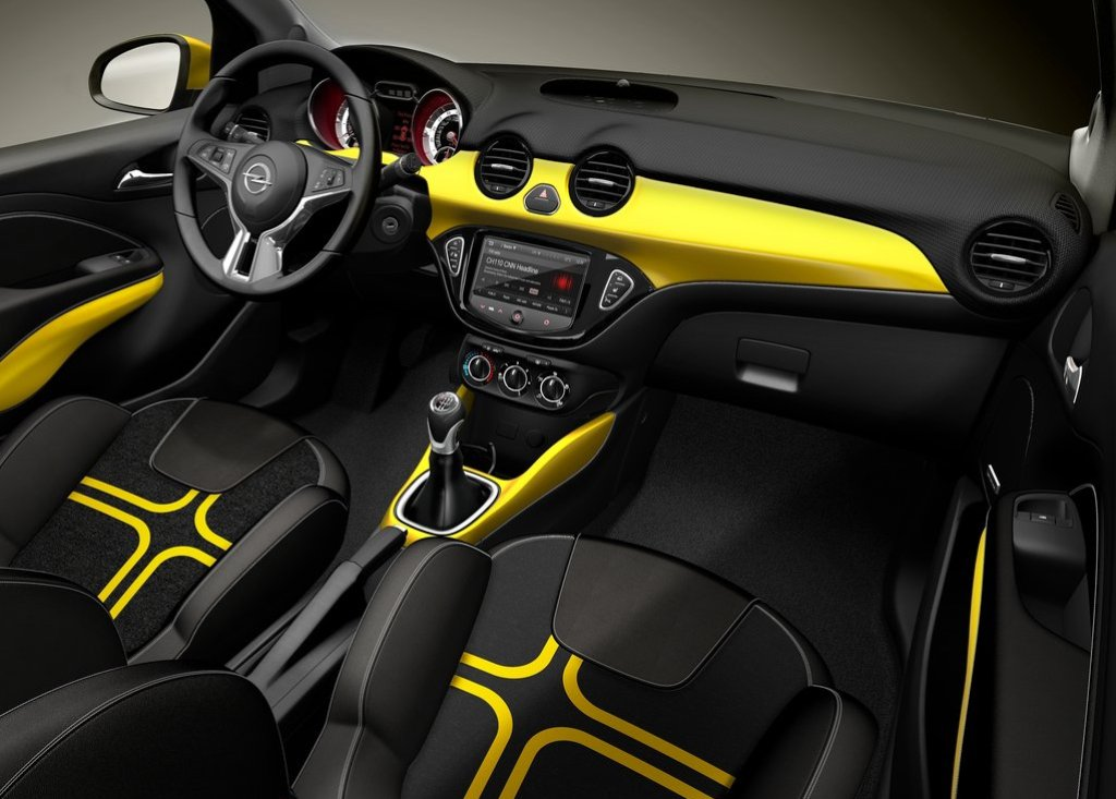 Interieur pakket opel adam sunny yellow gm tuningparts for Interieur opel adam