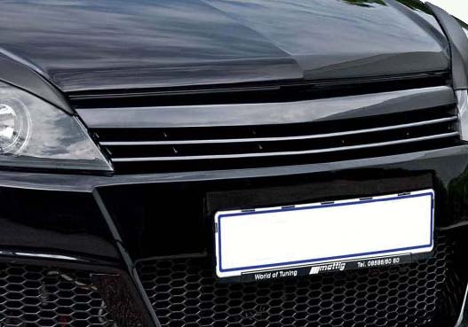 embleemloze grill opel astra h twin top - gm tuningparts